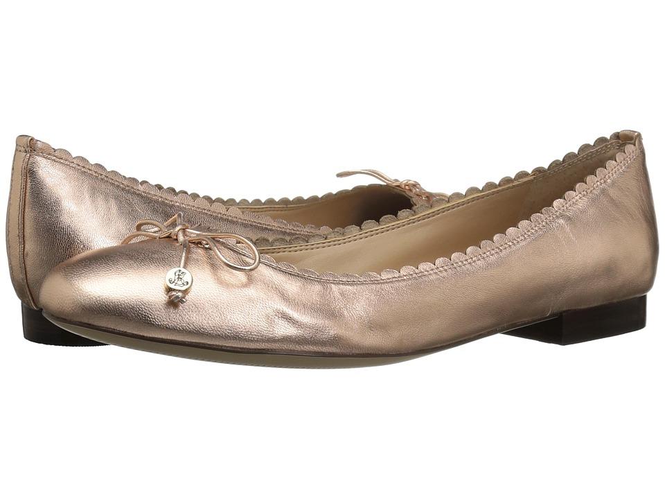 LAUREN Ralph Lauren Glennie (Rose Gold Metallic Kidskin) Flats