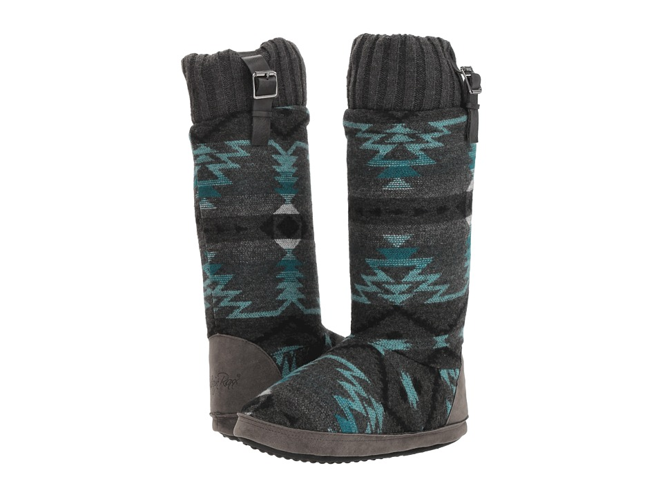 M&F Western Emma (Grey/Turquoise) Slippers