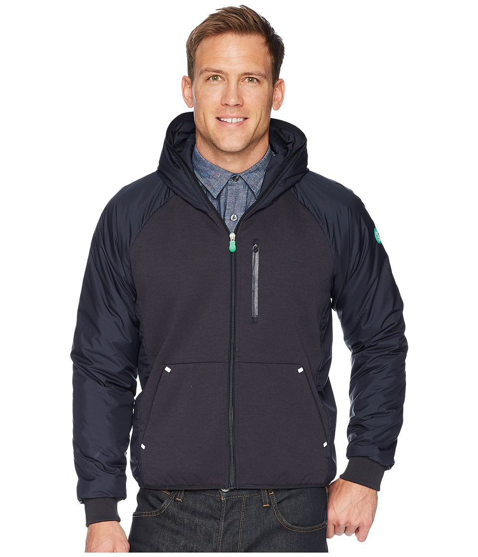 Save the Duck Recycled Hooded Jacket (Blue/Black) Men