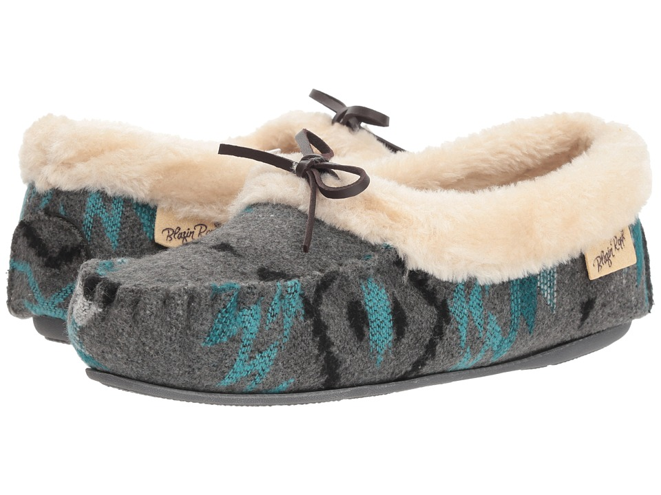 M&F Western Penelope (Turquoise/Grey) Slippers