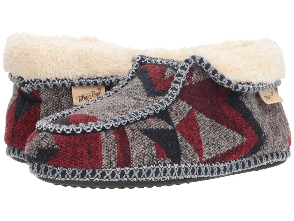 M&F Western Hazel (Grey/Red/Blue) Slippers