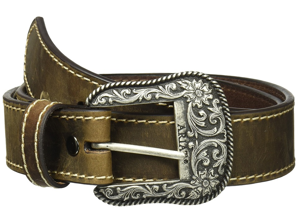 Ariat - Classic with Heavy Stitch Belt (Brown) Womens Belts