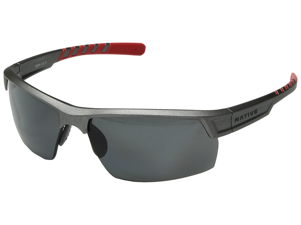 Native Eyewear Catamount (Platinum/Gray Polarized Lens) Athletic Performance Sport Sunglasses