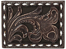 Ariat Floral Embossed with Buckstitch Lace Bifold Wallet