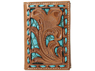 M&F Western M&F Western Floral Pierced Embossed with Buckstitch Trifold Wallet