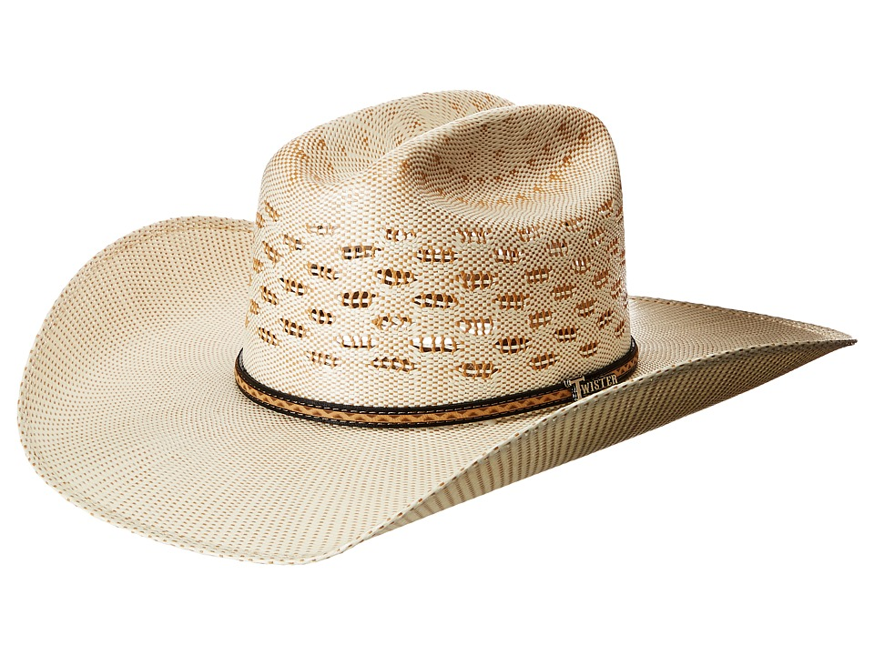M&F Western - Bangora Maverick Fancy Band (Ivory/Tan) Caps