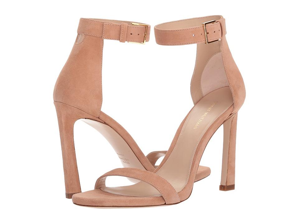 Stuart Weitzman 100squarenudist (Naked Seda Suede) Women's Shoes