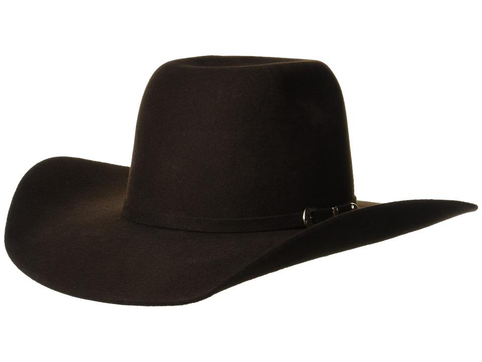 Ariat - Punchy Wool Hat (Little Kids/Big Kids) (Chocolate) Caps