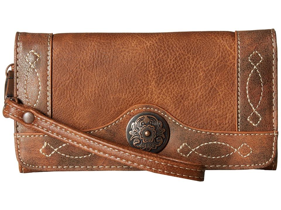 M&F Western - Ivy Clutch Wallet (Tan) Wallet Handbags