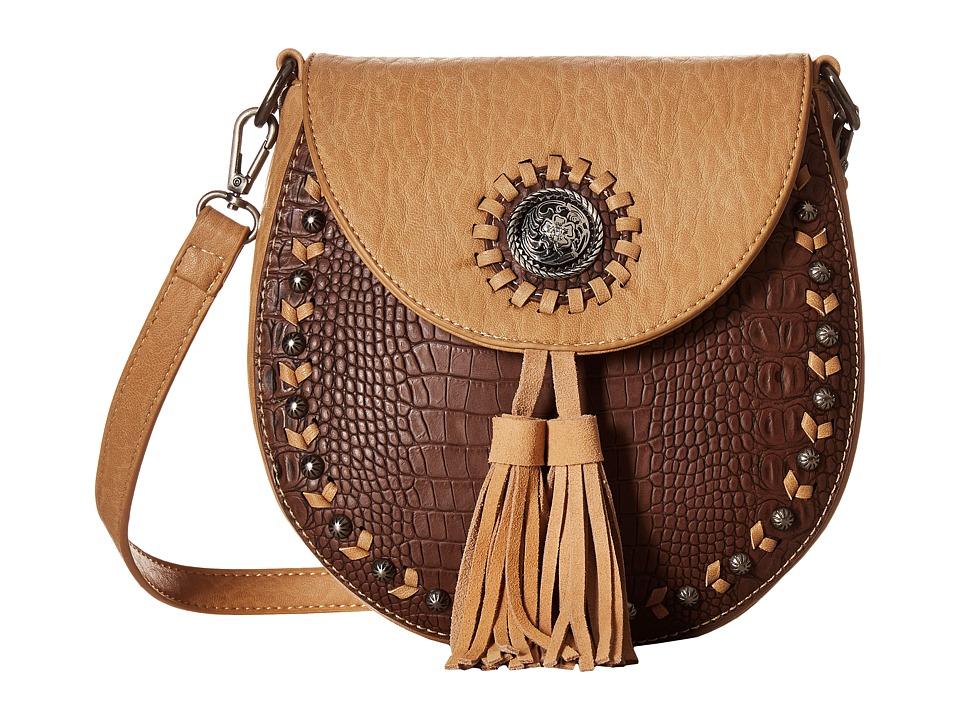 M&F Western - Kinsey Crossbody (Brown/Tan) Messenger Bags