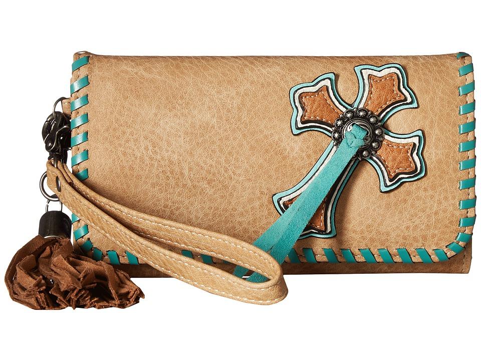 M&F Western - Abigail Clutch Wallet (Natural) Wallet Handbags