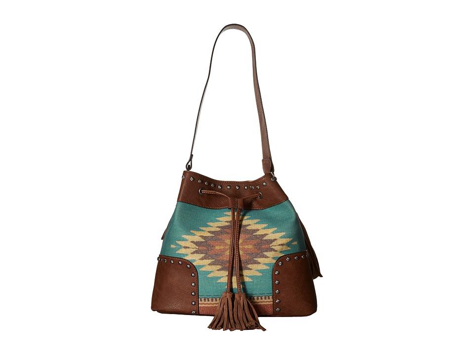 M&F Western - Zapotec Bucket Bag (Brown) Bags