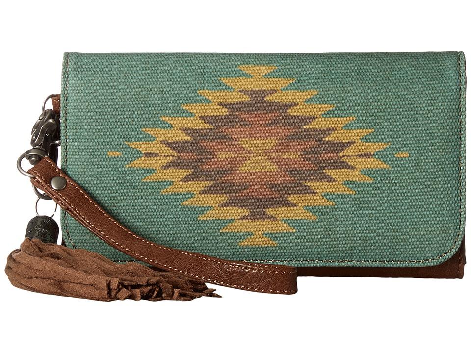M&F Western - Zapotec Flap Wallet (Brown) Wallet Handbags