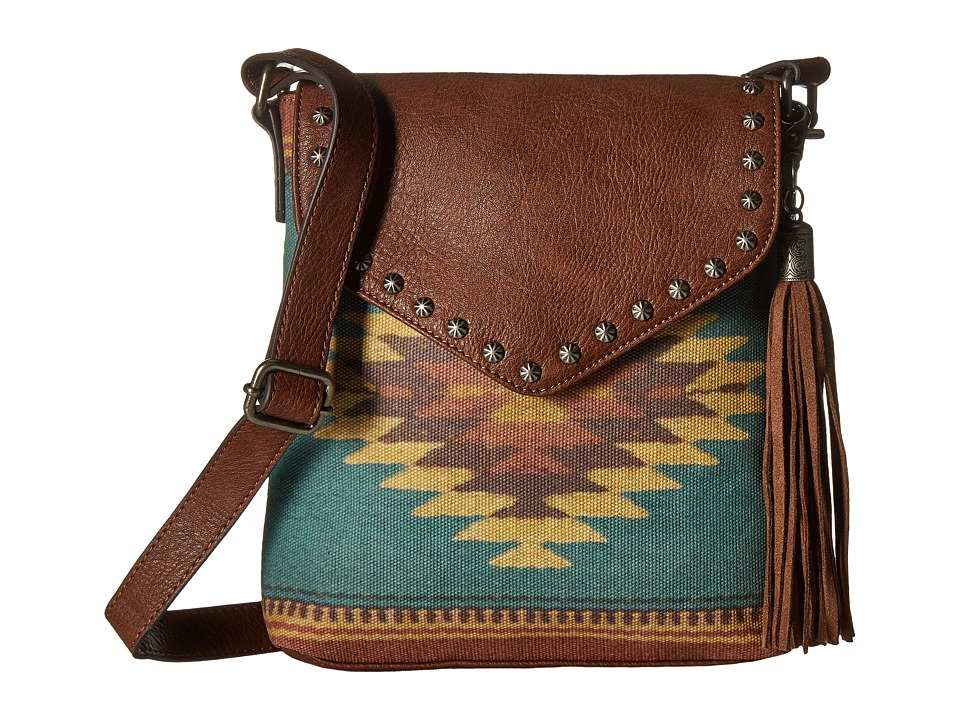 M&F Western - Zapotec Messenger (Brown) Messenger Bags