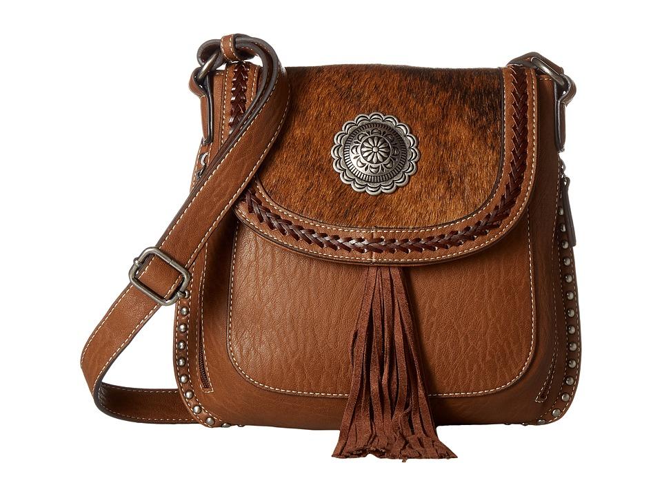 M&F Western - Ella Messenger (Brown) Messenger Bags