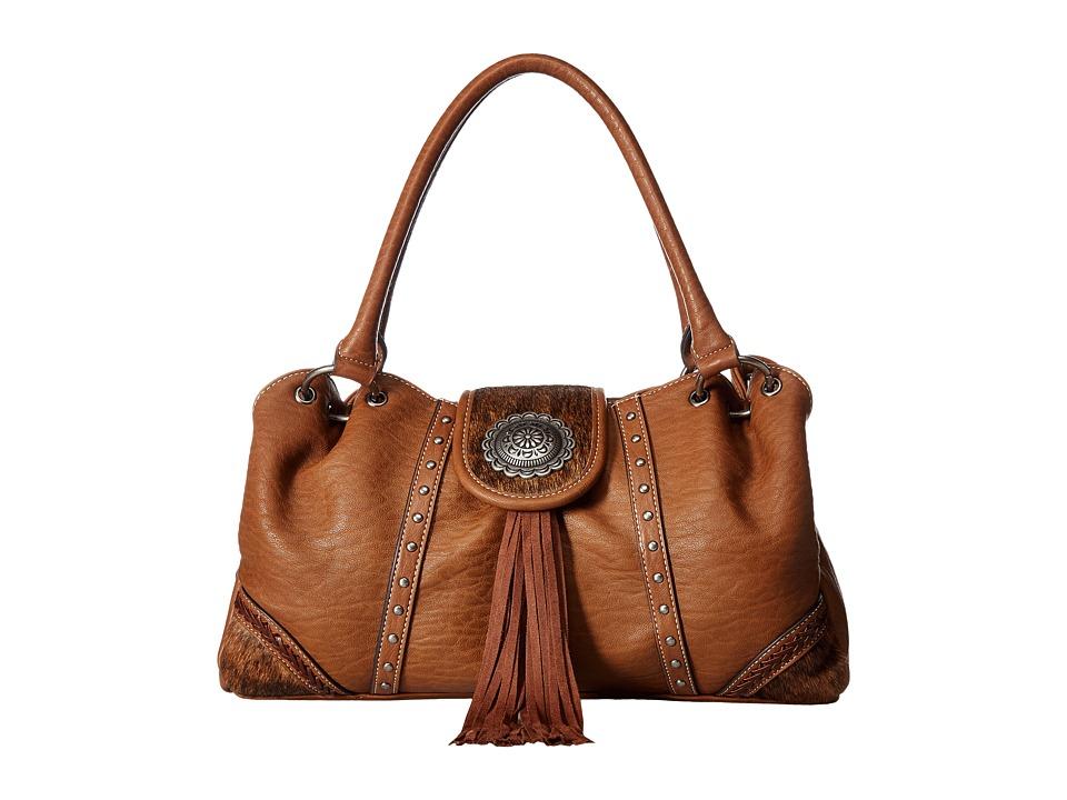 M&F Western - Ella Shoulder Bag (Brown) Shoulder Handbags
