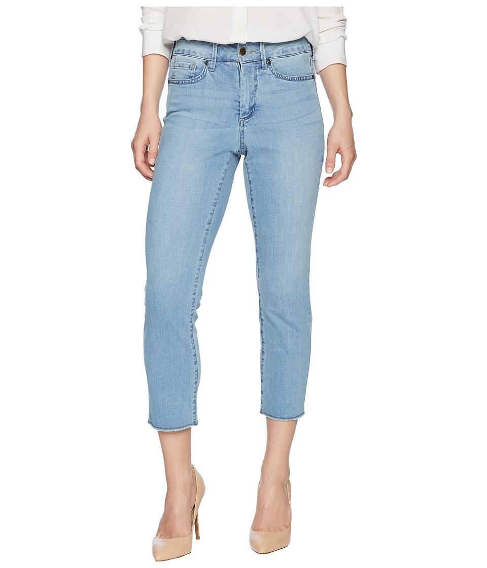 NYDJ Petite - Petite Sheri Slim Ankle w/ Fray Hem in Pampelonne (Pampelonne) Womens Jeans