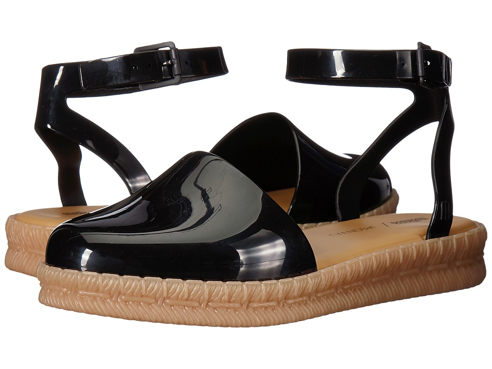 + Melissa Luxury Shoes - Jason Wu + Melissa Espadrille (Black/Beige) Womens Shoes