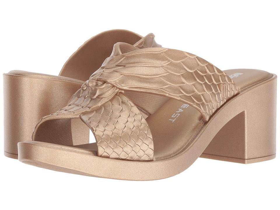 + Melissa Luxury Shoes Baja East + Python Heel (Gold) Women's Shoes
