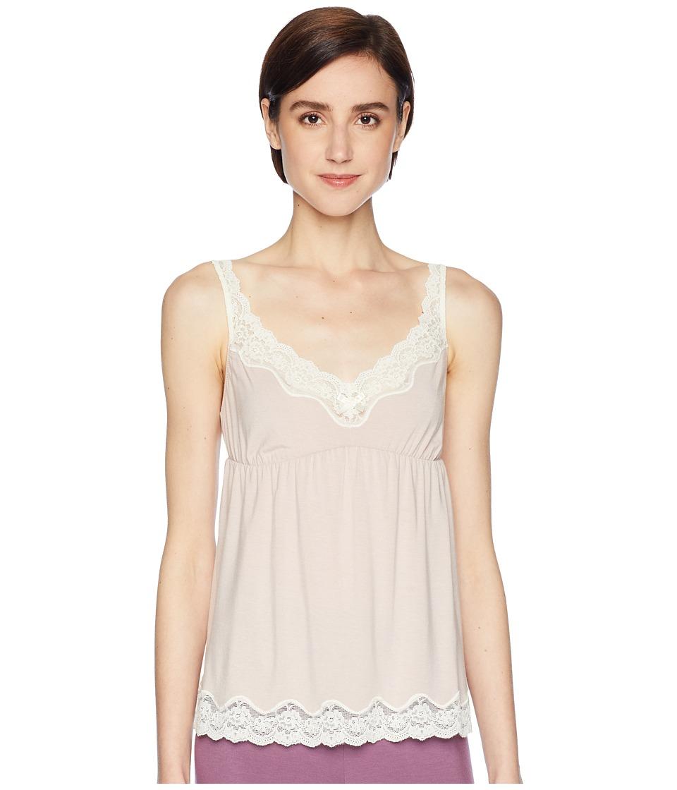 Eberjey - New Lady Godiva Cami (Pink Clay/Off-White) Womens Pajama