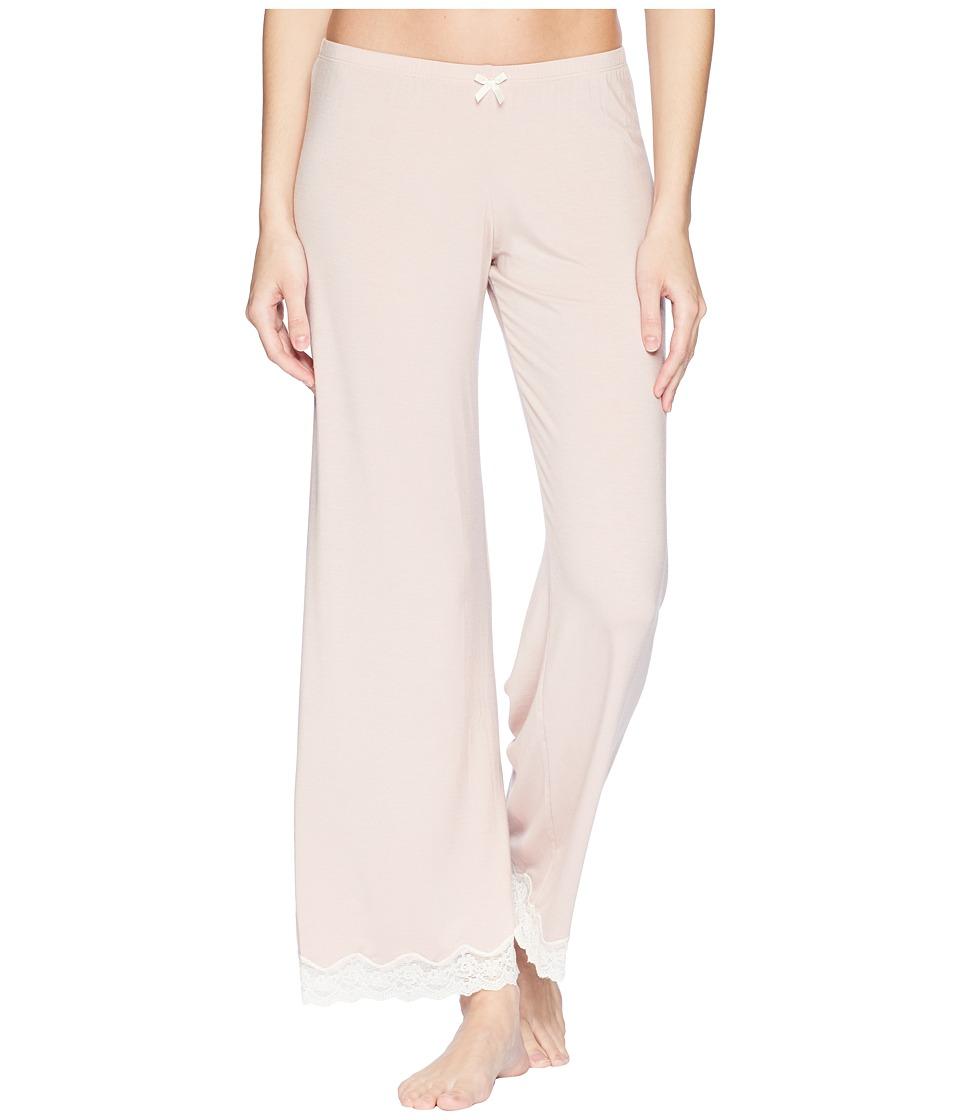 Eberjey - Lady Godiva PJ Pant (Pink Clay/Off-White) Womens Pajama