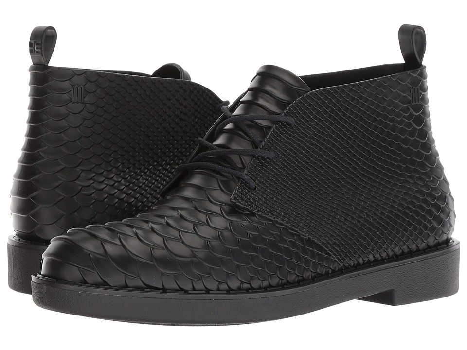 + Melissa Luxury Shoes Baja East + Desert Boot Python (Black) Women's Shoes