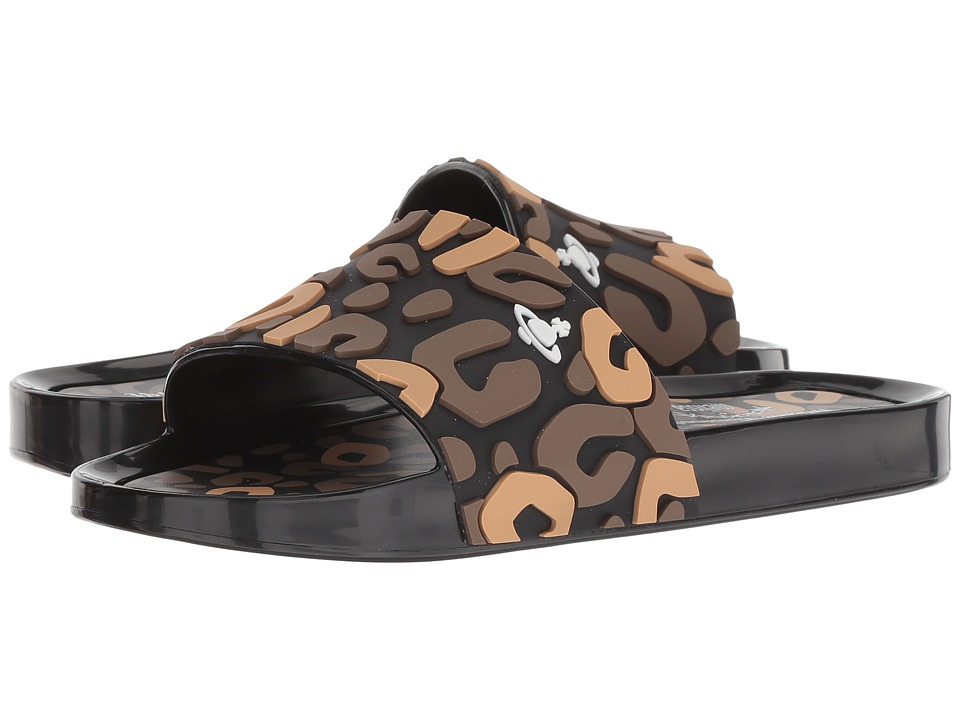 + Melissa Luxury Shoes Vivienne Westwood + Beach Slide 02 (Black/Brown/Beige) Women's Shoes