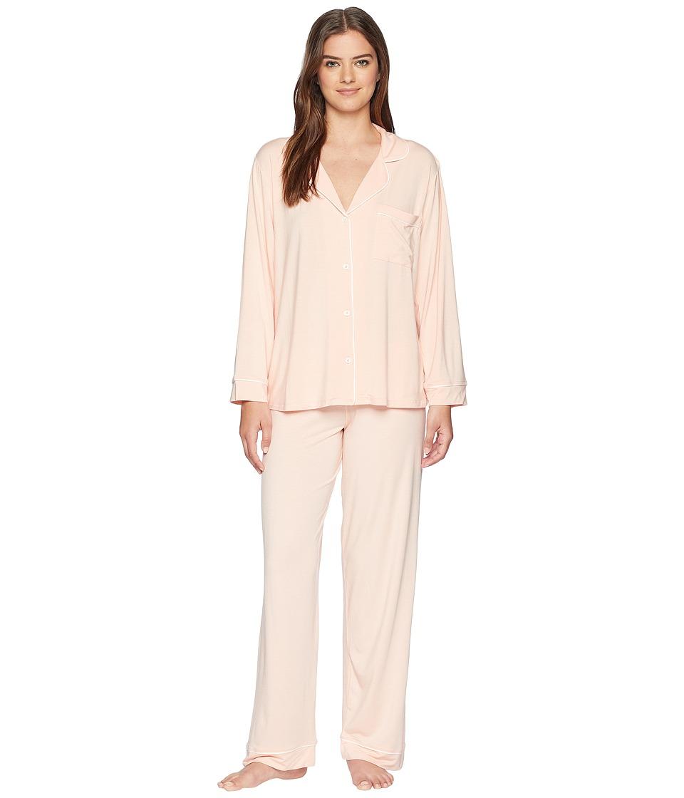 Eberjey - Gisele Basics PJ Set (Melocoton/Ivory) Womens Pajama Sets