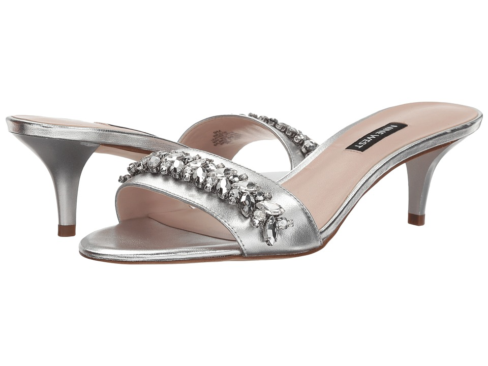 Nine West - Lelon (Silver Metallic) Womens Dress Sandals