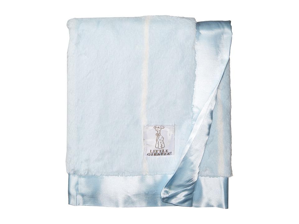 Little Giraffe - Luxe Pinstripe Blanket (Blue) Accessories Travel