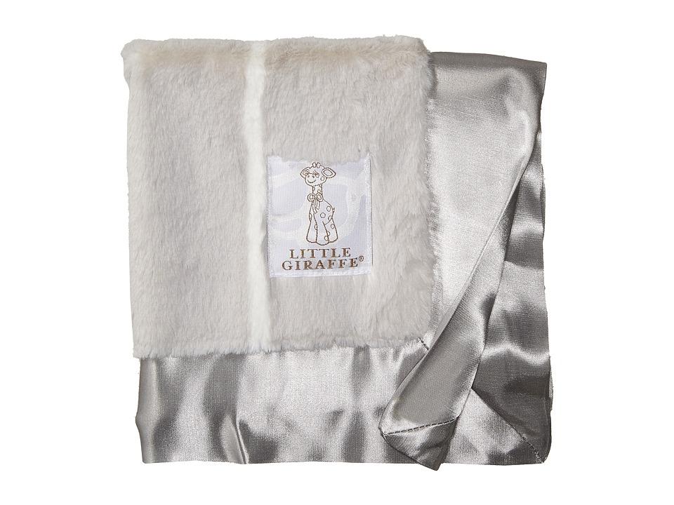 Little Giraffe - Luxe Pinstripe Blanky (Silver) Accessories Travel
