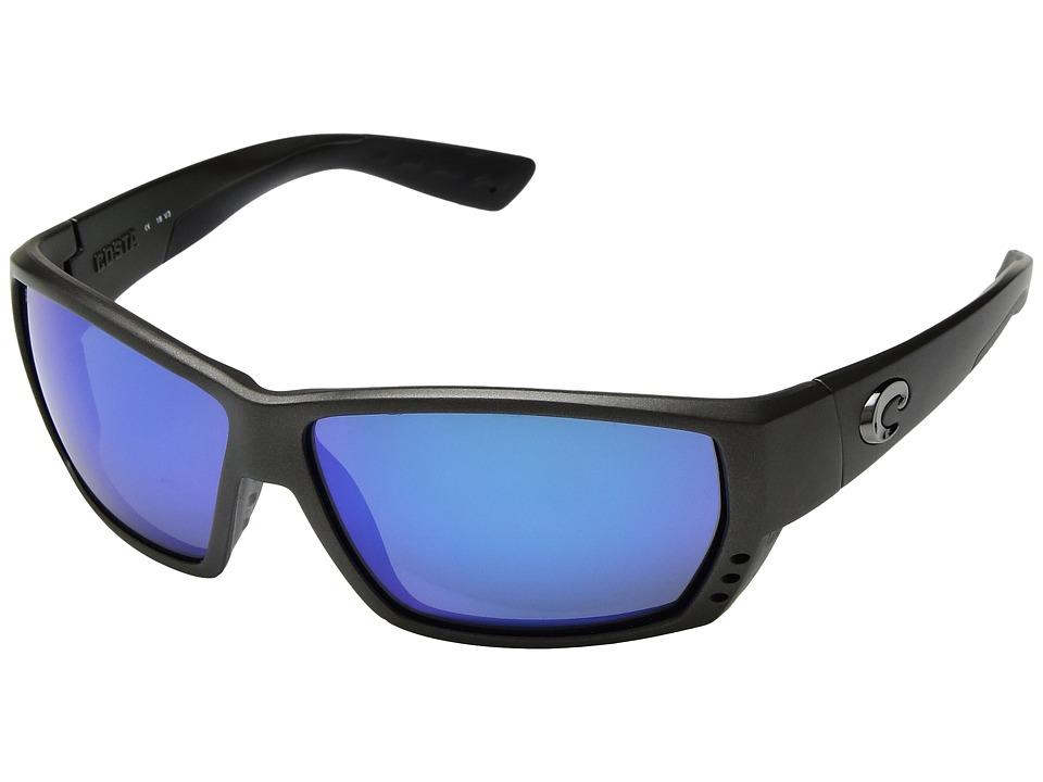 Costa - Tuna Alley Mirror (Steel Gray Metallic Frame/Blue Mirror 580G) Sport Sunglasses