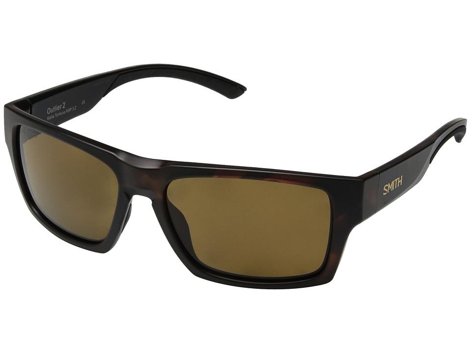 Smith Optics - Outlier 2 (Matte Tortoise/Brown ChromaPoptm Polarized Lens) Athletic Performance Sport Sunglasses