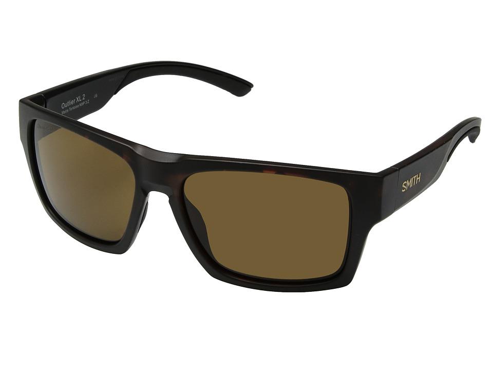Smith Optics - Outlier 2 XL (Matte Tortoise/Brown ChromaPoptm Polarized Lens) Athletic Performance Sport Sunglasses