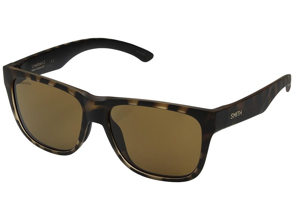 Smith Optics - Lowdown 2 (Matte Tortoise/Brown ChromaPoptm Polarized Lens) Athletic Performance Sport Sunglasses
