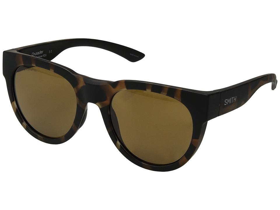Smith Optics - Crusader (Matte Tortoise/Brown ChromaPoptm Polarized Lens) Athletic Performance Sport Sunglasses