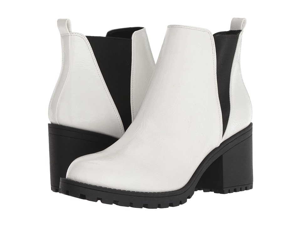 Dirty Laundry Lisbon (White Patent) Women's Pull-on Boots