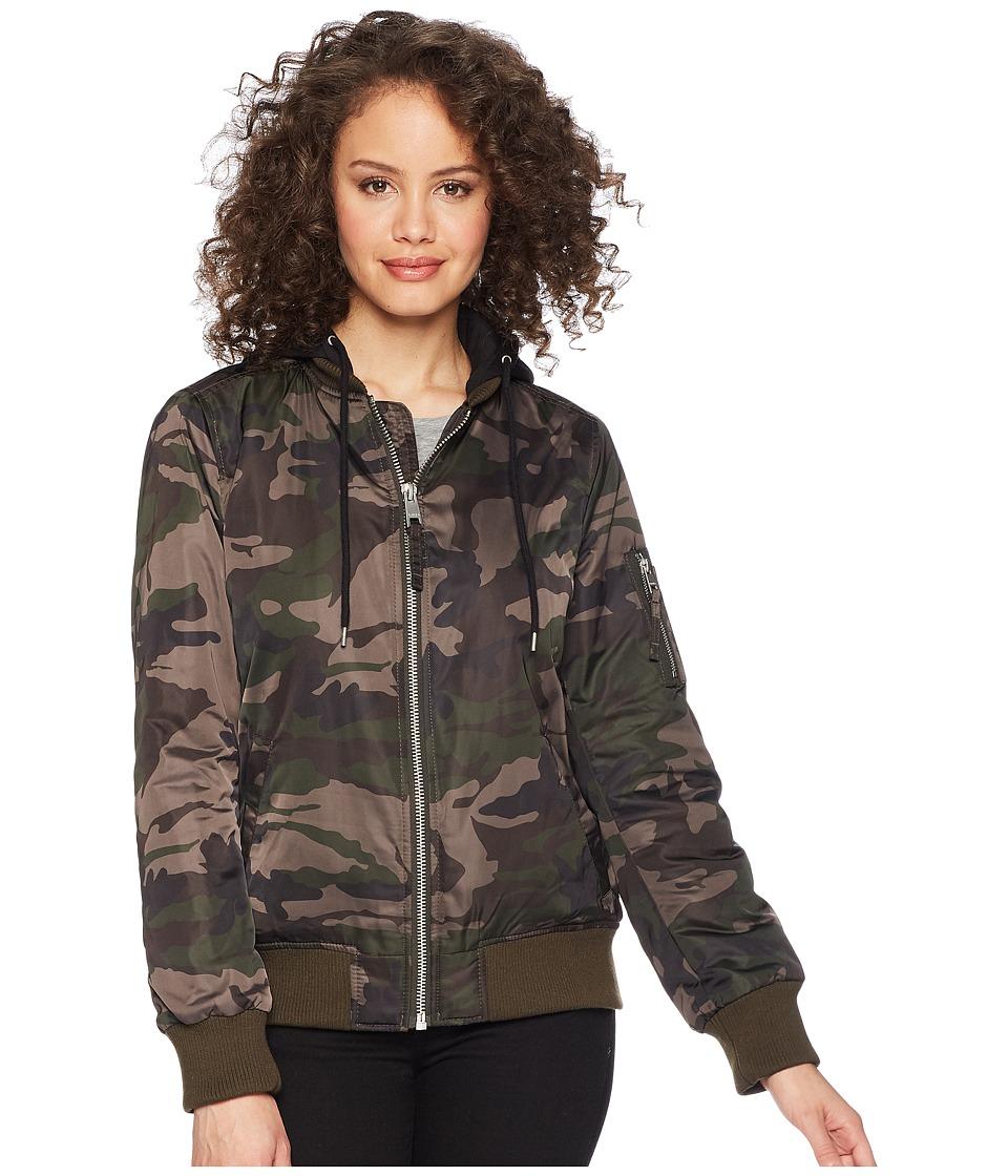 Levis(r) - Flight Bomber with Welt Pockets (Camo) Womens Coat