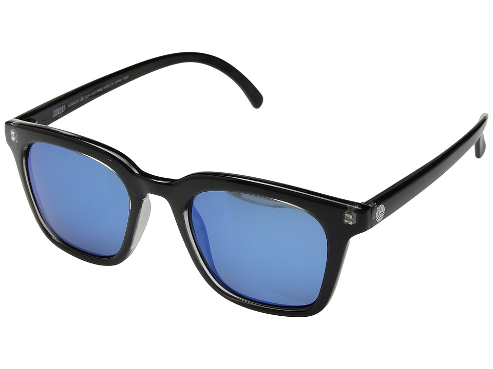 Sunski - Moraga (Black/Aqua) Sport Sunglasses