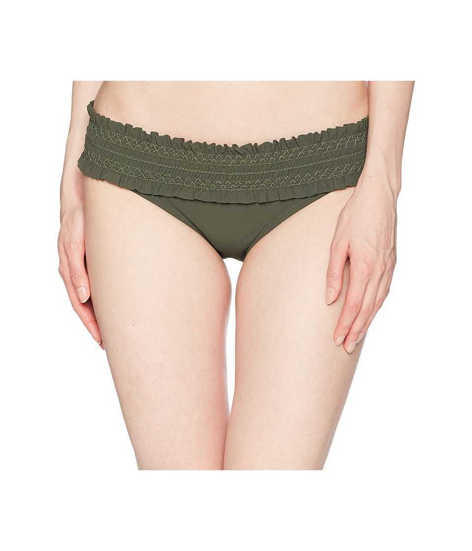 Tory Burch Swimwear - Costa Hipster Bottoms (Green Olive/Green Olive) Womens Swimwear
