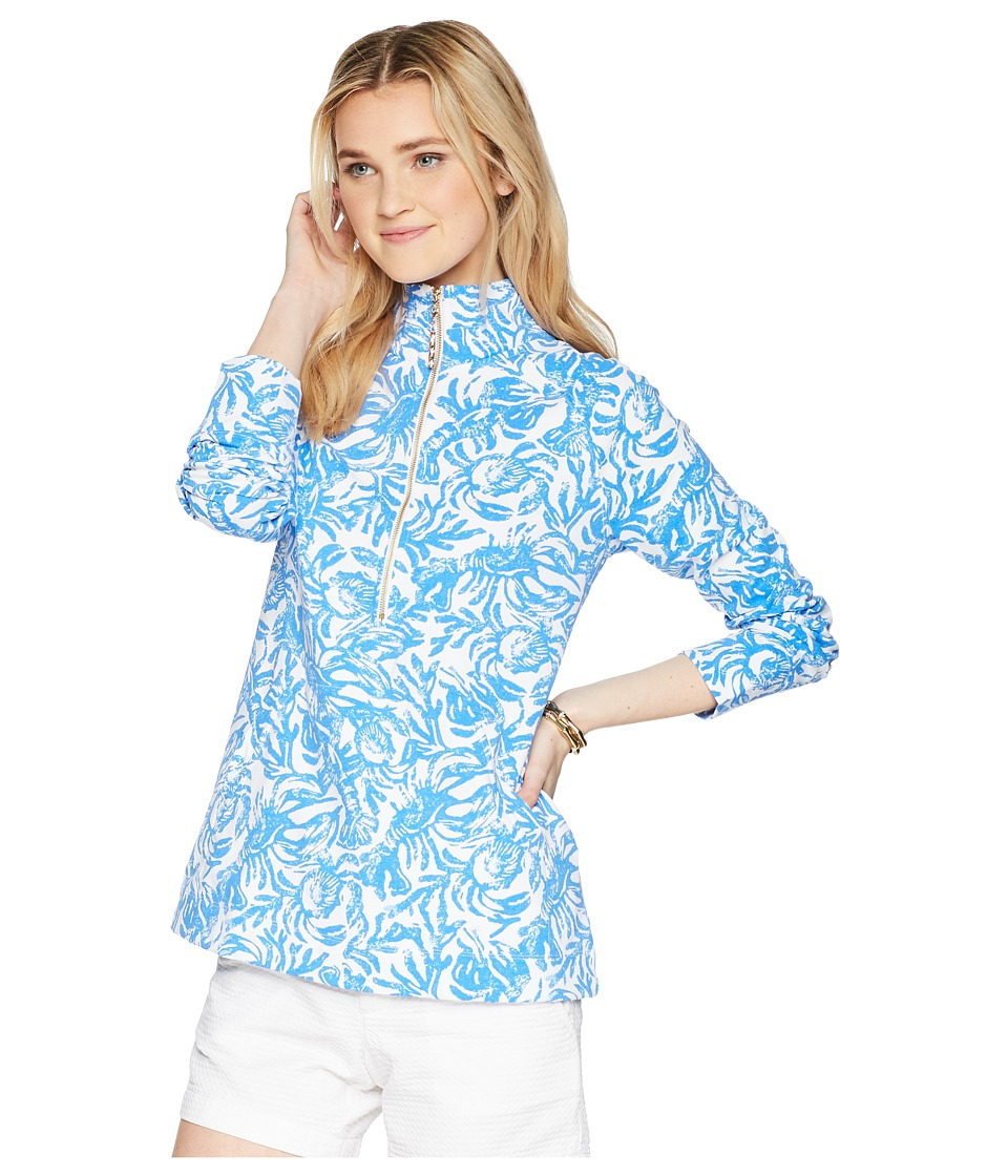 Lilly Pulitzer - UPF 50+ Skipper Popover (Resort White On A Roll) Womens Long Sleeve Pullover