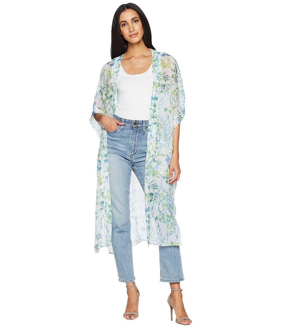 Steve Madden - Botanical Garden Contemporary Kimono Duster (Cool) Womens Clothing