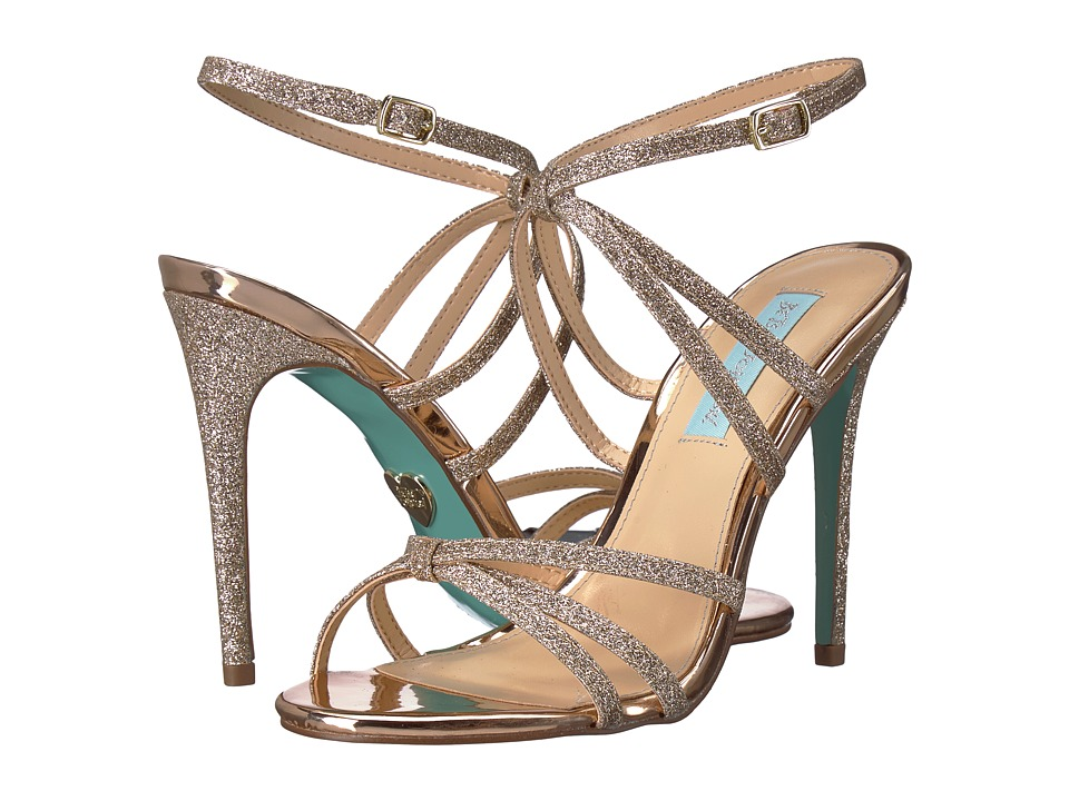 Blue by Betsey Johnson Myla (Champagne Glitter) High Heels