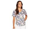 Nally & Millie Nally & Millie Short Sleeve V-Neck Floral Print Top