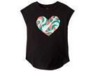 Nike Kids Wavy Heart Short Sleeve Hi-Lo Tee (Little Kids)