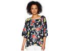 Nally & Millie Nally & Millie Black Floral Print Dolman Top
