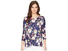 Nally & Millie Nally & Millie Dolman Sleeve Navy Floral Print Tunic