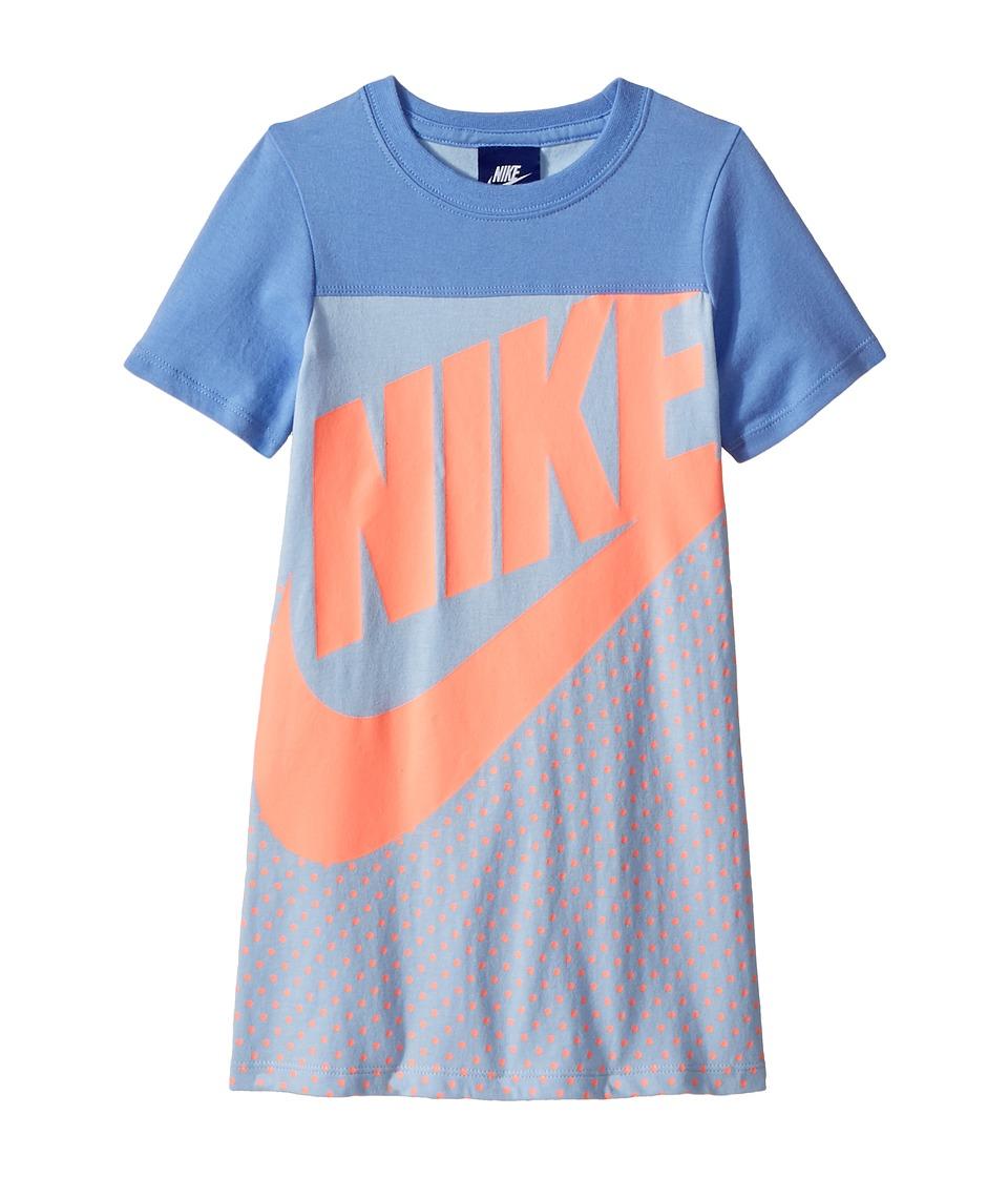 Nike Kids - Sportswear Jersey GFX Dress (Little Kids) (C Sky) Girls Dress