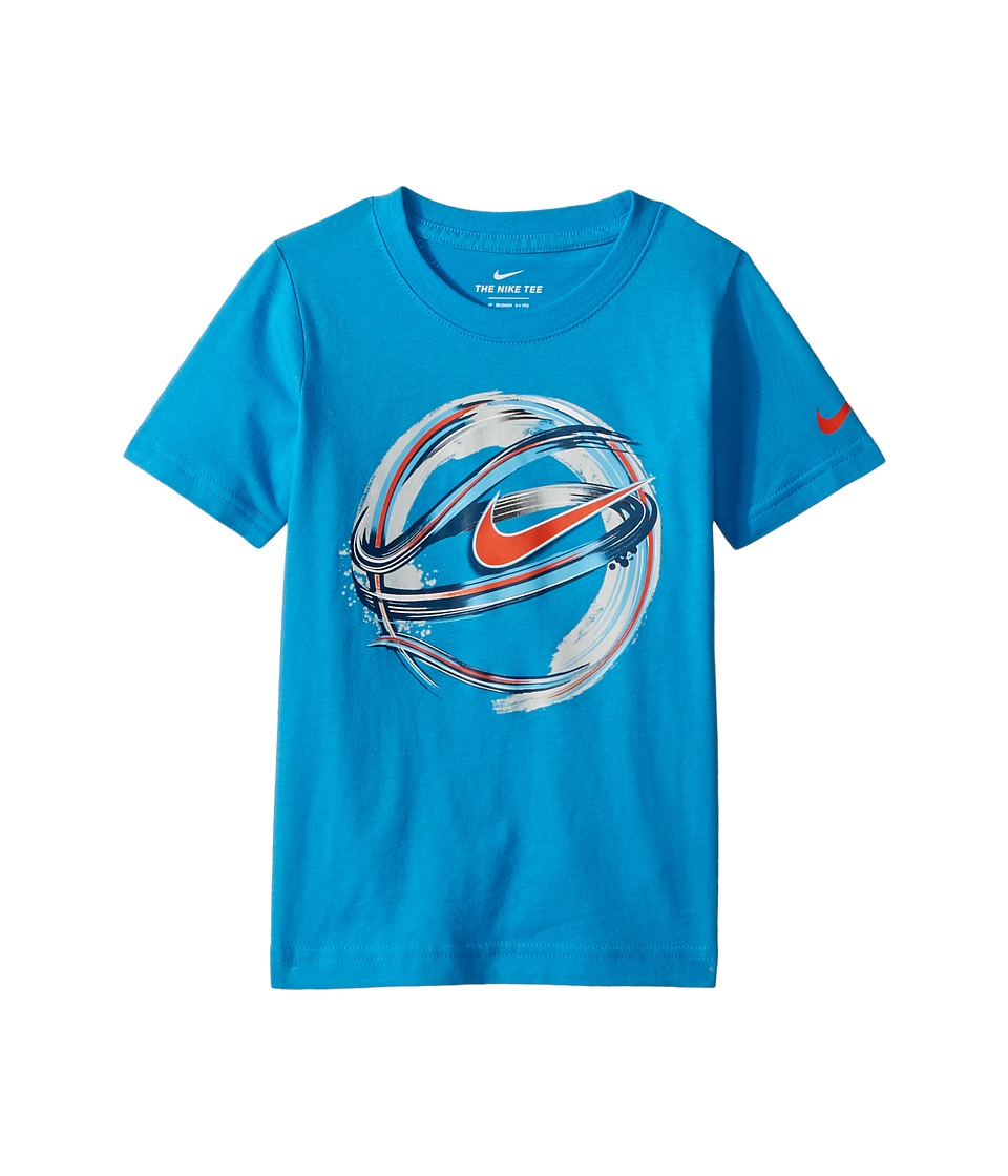 Nike Kids - Brush Basketball Cotton Tee (Toddler) (Caribean) Boys T Shirt