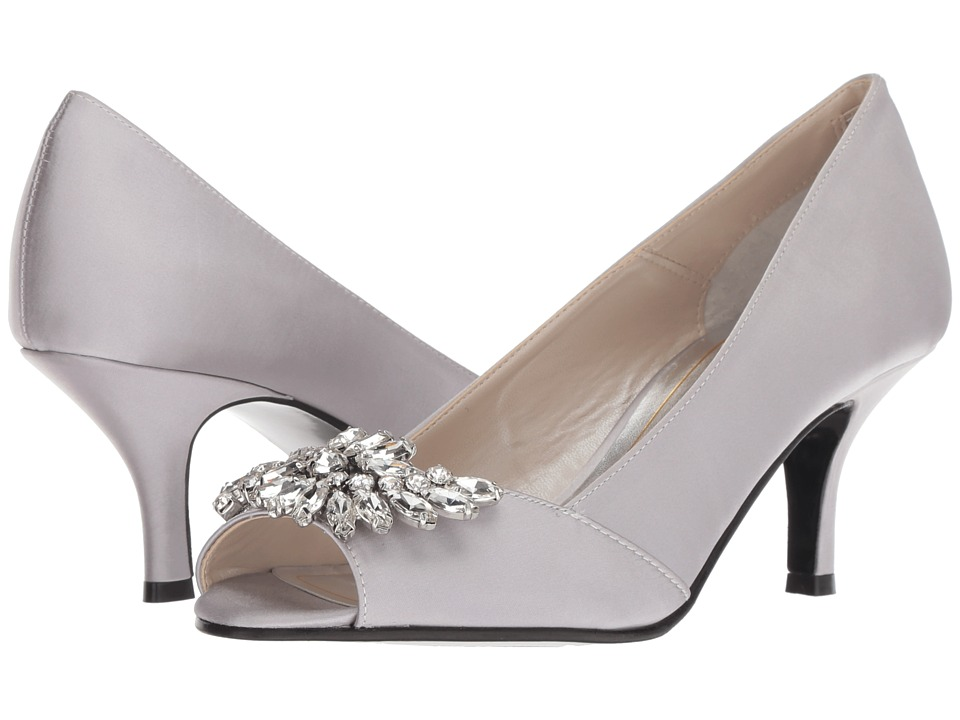 Caparros Oracle (Silver New Satin) 1-2 inch heel Shoes